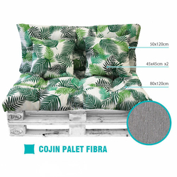 Back cushion pallet set 4 Pieces, include Up Seat and Respaldo, Ideal for Garden, Terrace, courtyard balcony,