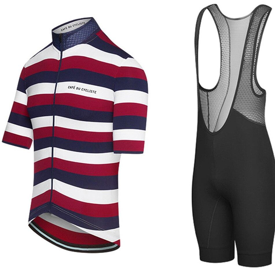 Café DU CYCLISTE hommes maillot de cyclisme vêtements d'équitation à manches courtes costume cuissard respirant vélo vêtements ensembles roupa ciclismo
