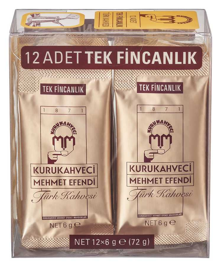 Turkish Coffee For Single Use12x6 Gr For One Cup Keeping Fresher