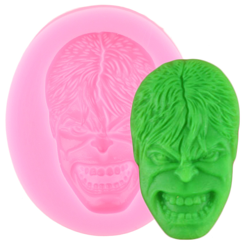 3D Hulk Silicone Mold Cake Border Fondant Mould Party Cupcake Topper Cake Decorating Tools Candy Resin Clay Chocolate Molds