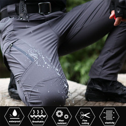 Men Military Tactical Pants Waterproof Cargo Pants Men Breathable SWAT Army Solid Color Combat Long Trousers Work Joggers S-5XL