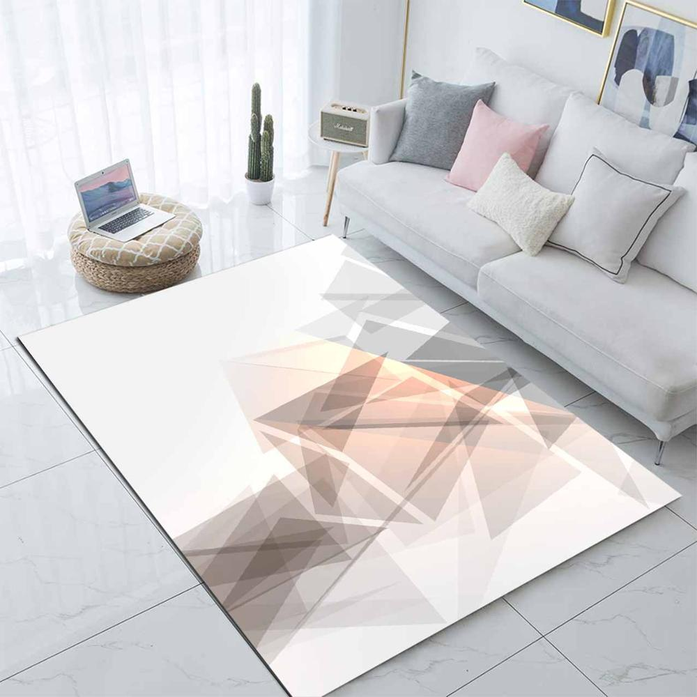 Else Brown White Geometric Stripes Nordec 3d Print Non Slip Microfiber Living Room Decorative Modern Washable Area Rug Mat