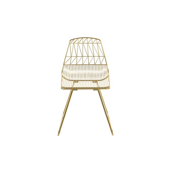 Dining Chair Metalic Zigzag (46 X 78 X 57 Cm)