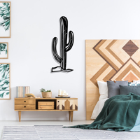 Cactus Metal Black Decor Wall Art Decorative Turkish Style large wall decor for Bedroom Living Room Office Home Decor