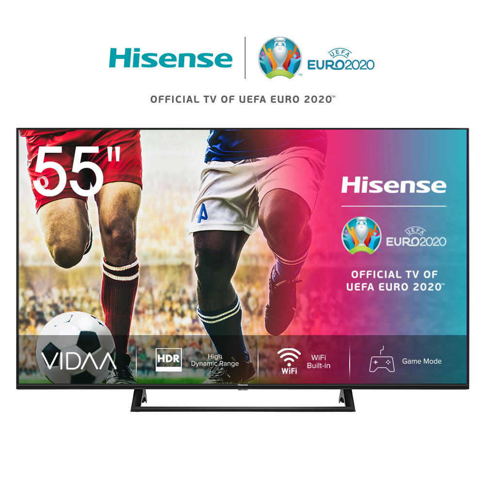 Телевизор 55 дюймов Hisense 4K Smart TV 55AE7200F, HDR, Ultra High Dynamic Range, режим Галереи, звук DTS Virtual-X, 5055inch TV