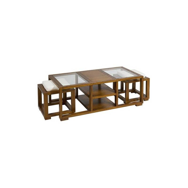 Coffee Table Wood Mindi Playwood (120x60x44 Cm)