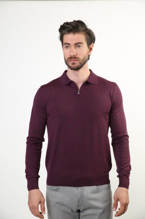 Filippo Ghada Polo Collar Men 'S Woolen Sweater 4556-BSC