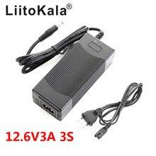 LiitoKala cargador de batería de litio Serie 3 6 serie 7 Serie 10 Serie 12V 24V 36V 48V 18650 V 12,6 V DC 29,4*5,5mm