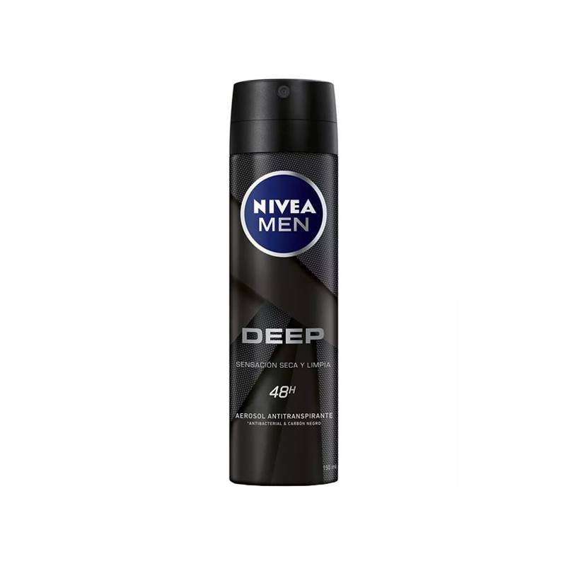 Deodorant Spray Men Deep Black Carbon Nivea (150 Ml)
