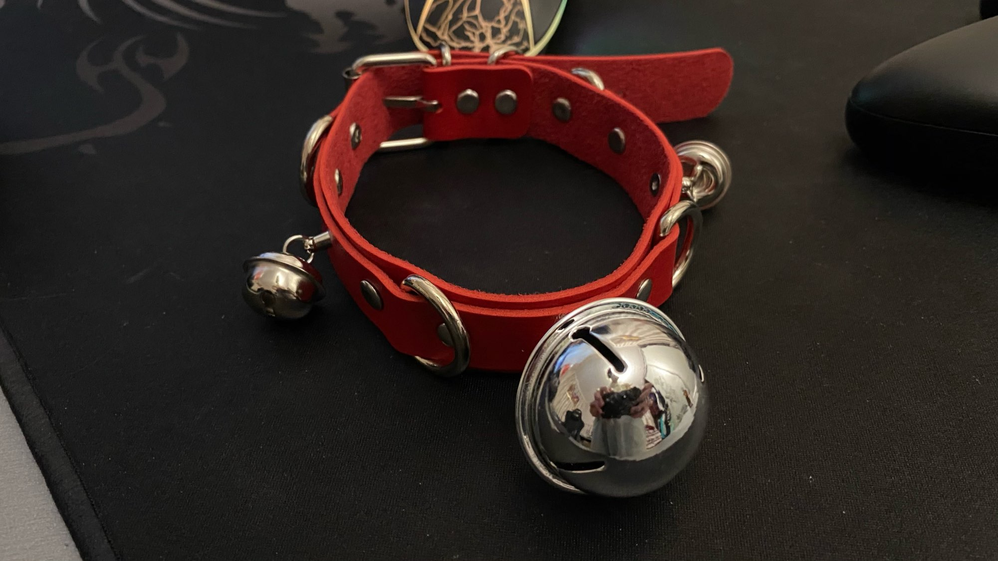 Leather Choker with Bells and rings photo review
