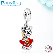 New Style Minnie Charm Beads 925 Sterling Silver Fit Pandora 925 Original Charms Bracelet Pendants Gift Jewelry Making DIY 2020 new arrival 925 silver charms beads with colorful cz stone fit authentic pandora bracelet diy fashion jewelry making women gift