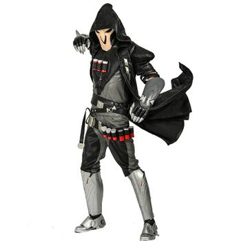 COSTHEME Overwatch Reaper Robe, Officially Licensed, Halloween Cosplay Costume Coat Gabriel Reyes Game Anime Apparel with Spine 6