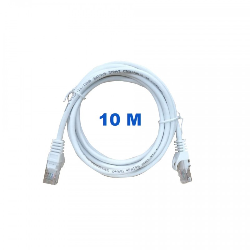 Cord UTP 10 Meters Without Shielding With RJ45 Connectors Category 5E.