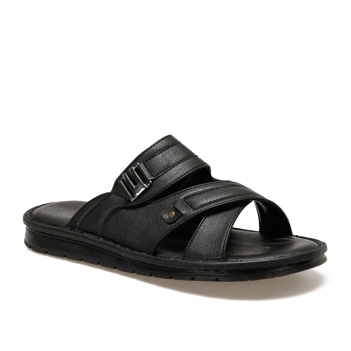 FLO 105 C Black Male Slippers Flexall