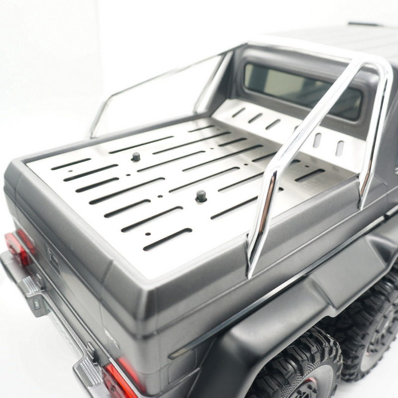 Stainless steel trunk plate for TRAXXAS TRX6 G63 6X6 rc car toy