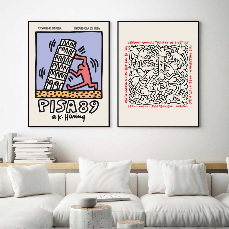 Keith Haring Art Exhibition Poster
