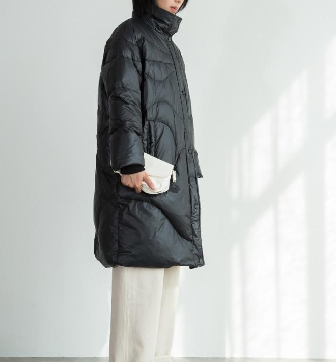 新デザインロング女性ダウンコート冬厚く暖かい冬フード付き 90% アヒルダウン付き女性コート