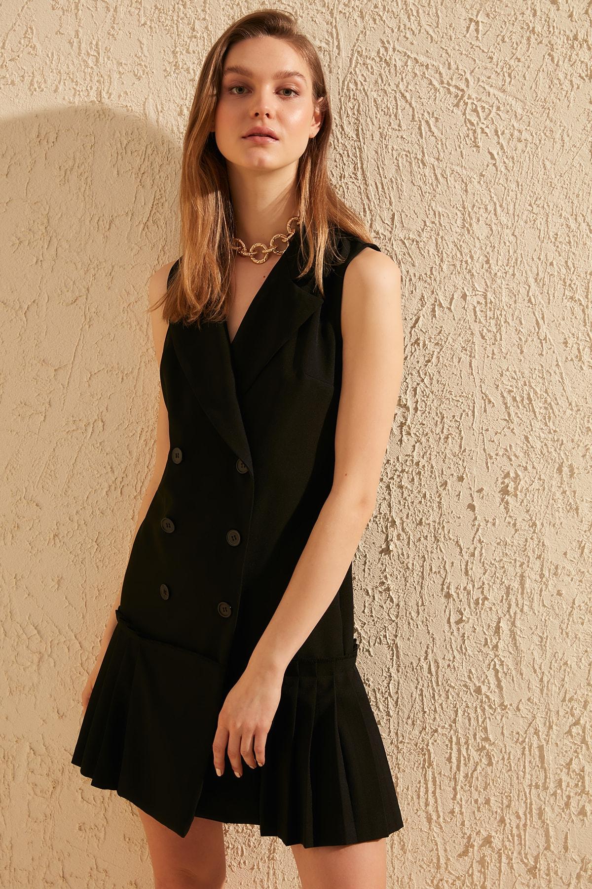 Trendyol Piliseli Dress TWOSS20EL0521