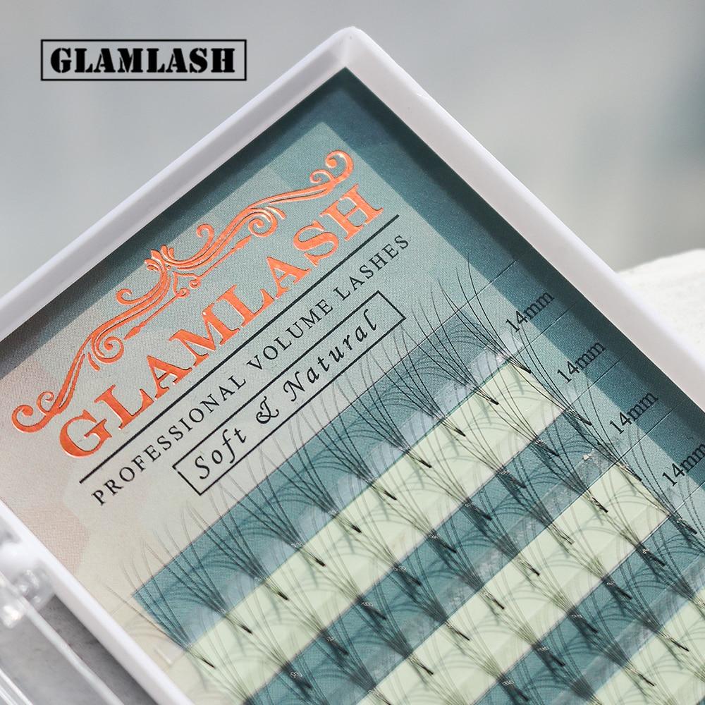 GLAMLASH 2D 3D 4D 5D 6D premade fans false eyelashes extension russian volume lashes faux mink individual lash extensions cilia 1