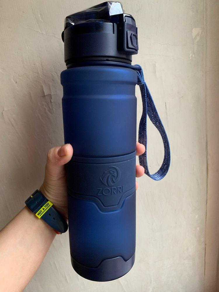 ZORRI Drak Blue Sports Water Bottle Best Reusable Protein Shaker Bpa Free Water Bottle Hiking Cycling Gym Bottle botella de agua|Water Bottles|   - AliExpress