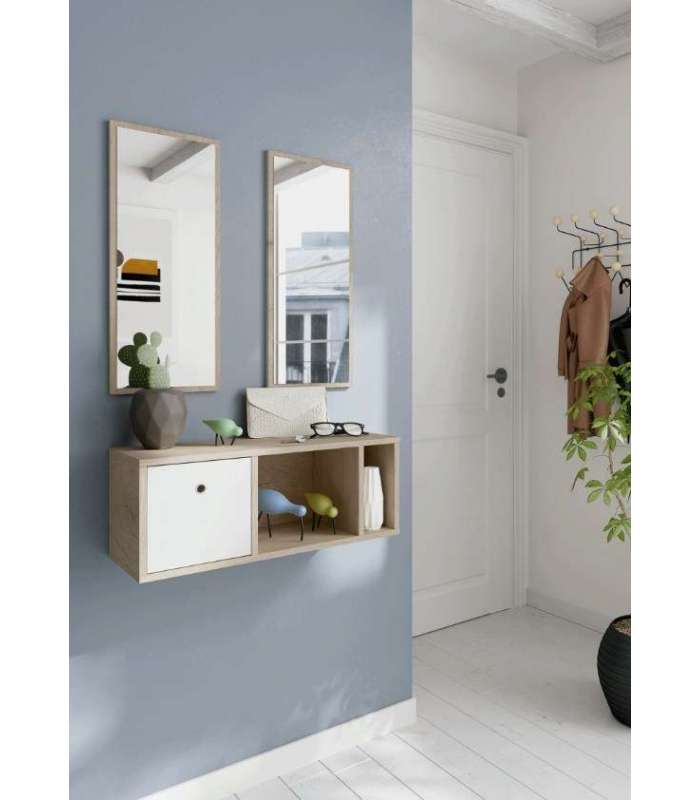 Hall Cabinet With Two Mirrors Nanda.