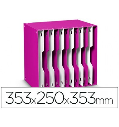 FILING CABINET MODULATE CEP POLYSTYRENE PINK/WHITE 12 CASILLAS 353X250X353 MM