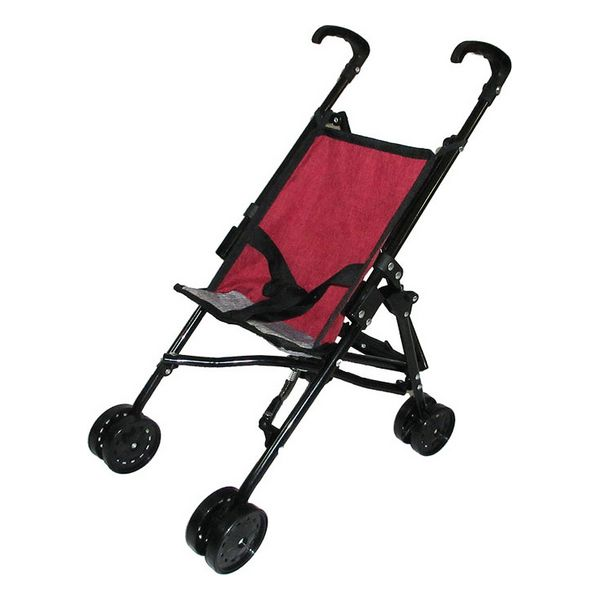 Doll Stroller 117257 Grey Maroon