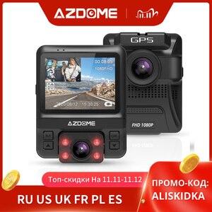 Image 1 - Original AZDOME GS65H Dash Cam Mini Dual Lens Car DVR Novatek 96655 Full HD 1080P Car Camera Night Vision For Uber Lyft Taxi