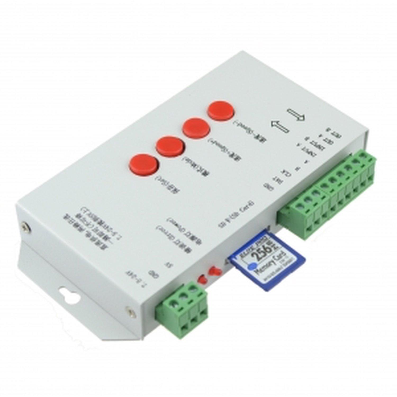 T-1000S SD Card RGB LED Pixel Controller DMX512 WS2811 WS2801 LPD8806 LPD8809 +