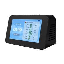 DM601 Multi-Functie Lcd-scherm Luchtkwaliteit Detector Co2 Tester Luchtkwaliteit Sensor PM2.5 PM1.0 PM10 CO2 Tvoc Deeltje detectoren