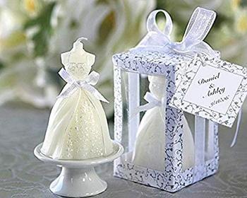 Lote de 20 Velas Vestido de Novia - Detalles de recuerdos y regalos para bodas y bautizos... comuniones baratos y originales