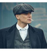 Czapka męska czapka kierowcy kapelusz kaszmirowy czapka Trilby tanie tanio TR (pochodzenie) Dla dorosłych Nakrycia głowy