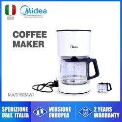 Midea MA D1502AW1 ekspres do kawy amerykańska rodzina szklanka do kawy zaparzacz do kawy cafe machinemacchina caffè maszyna w Ekspresy do kawy od AGD na