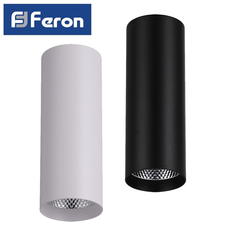 Светодиодный светильник спот Feron AL530 накладной 15W 4000K белый черный