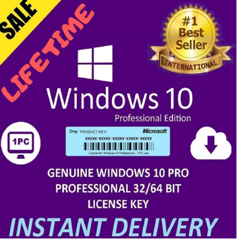 2021 Window 10 Pro Key Ⓒ 32/64-Bit FULL VERSION 1