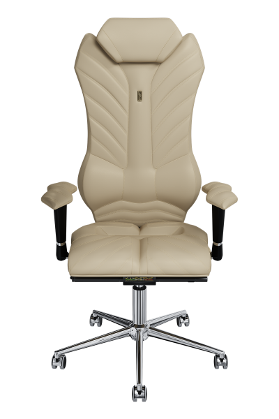 Office Chair KULIK SYSTEM MONARCH Beige Computer Chair Relief And Comfort For The Back 5 Zones Control Spine