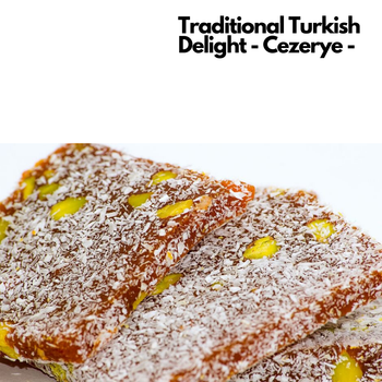 Quality Turkish Delight Cezerye Carrot and Delight With Pistachio Gift Turkish Cuisine Made in Turkey недорого