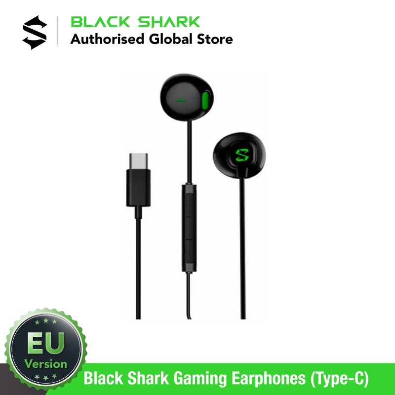 (EU Version) Black Shark Earphones (Type-C) Gaming Headset, Brand new image