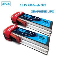 DXF Battery lipo 2S 3S 7.4V 11.1V 7000mah 6500mah 5000mah 50C 60C 100C 120C Hardcase graphene for RC TRX Car Boat Helicopter