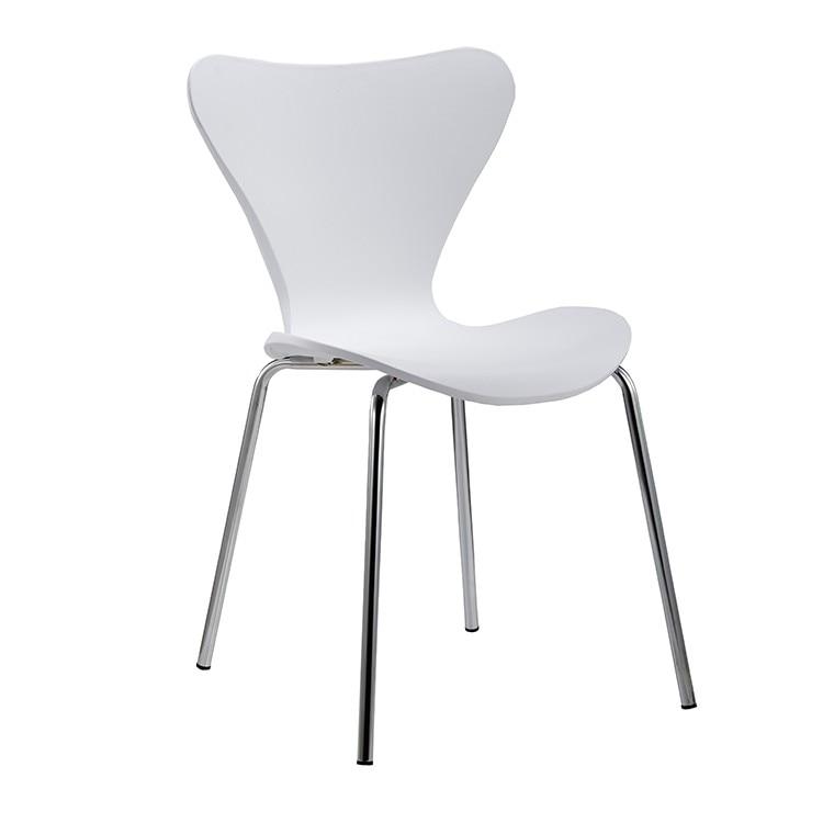 Chair ARNE, Chrome White Polypropylene