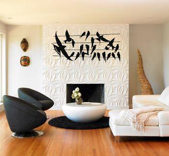 Metal Wall Art, Metal Bird Flocks Wall Art, Metal Wall Decor, Housewarming Gift, Interior Decoration, Office Decor фото