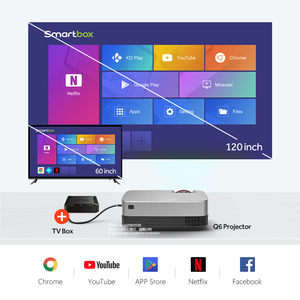 Image 2 - AUN מיני מקרן Q6/s (אופציונלי אנדרואיד 10 טלוויזיה תיבת) 1280x720P וידאו Beamer. נייד 3D וידאו קולנוע תמיכת 1080P, קולנוע ביתי