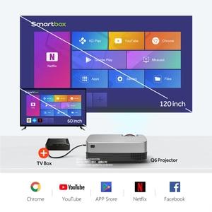 Image 2 - アウンミニプロジェクターQ6/s (オプションのアンドロイド 10 テレビボックス) 1280 × 720 1080pビデオプロジェクター。ポータブル 3Dビデオシネマサポート 1080p、ホームシアター