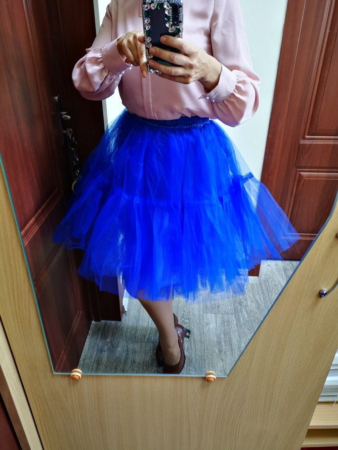 Petticoat 5 Layers 60Cm Tutu Tulle Skirt Vintage Midi Pleated Skirts Womens Lolita Bridesmaid Wedding Faldas Mujer Saias Jupe photo review