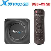 2021 X88 برو 20 مربع التلفزيون الذكية أندرويد 11 4GB 8GB RAM32GB 64GB 128GB ROM 2.4G 5G واي فاي 1000M بلوتوث 4K HD مجموعة صندوق