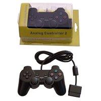 Choque duplo de controle para sony playstation 2 Gamepads     -