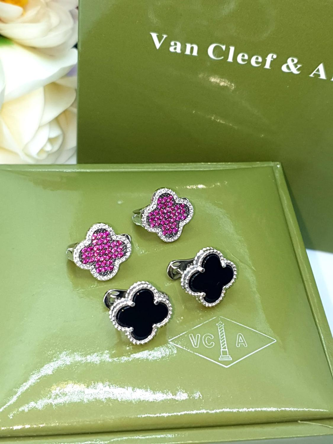 Silver Earrings With Clover 925 Silver