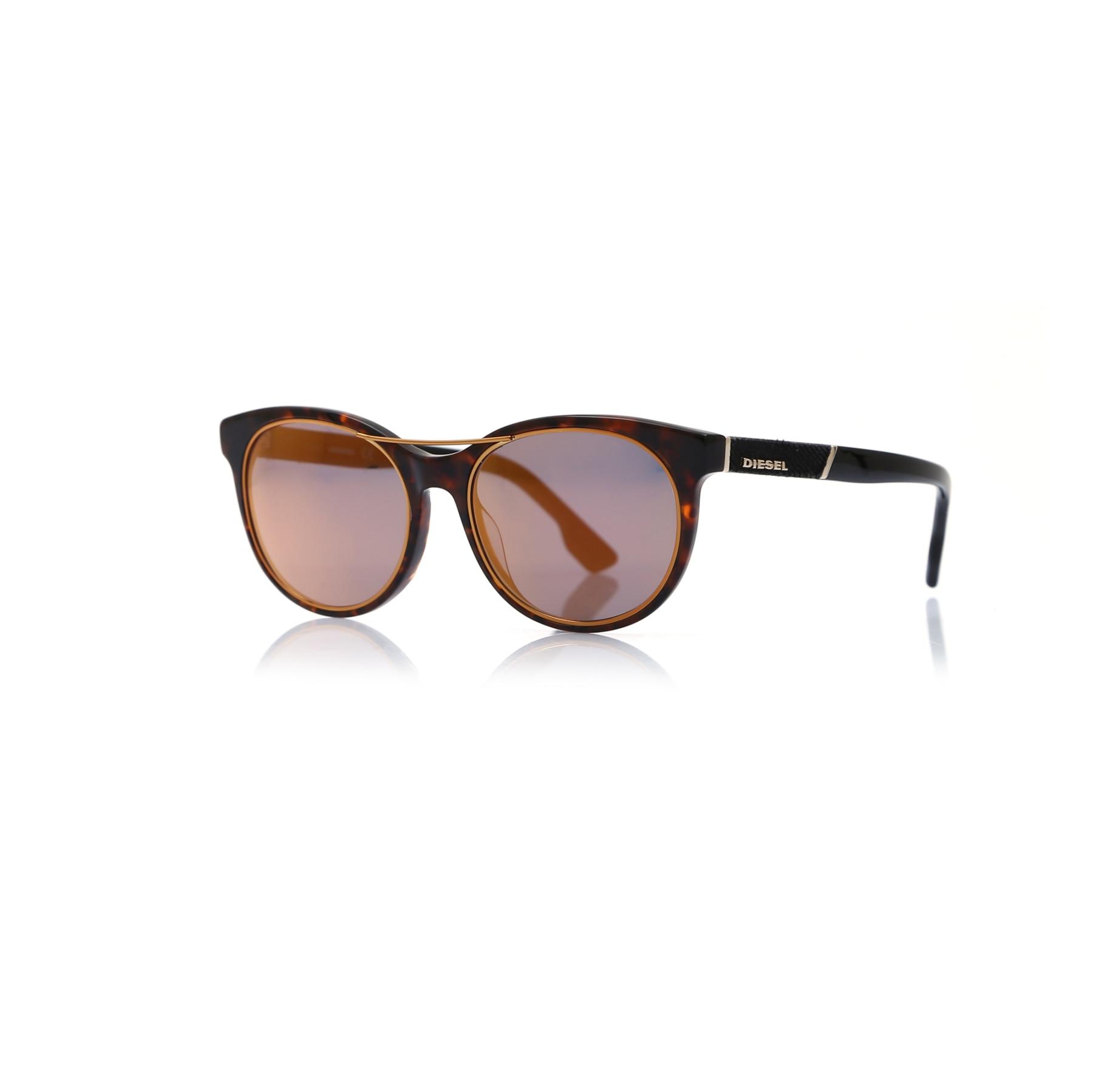 Unisex sunglasses dl 0213 52x bone Brown organic oval aval 55-19-140 diesel