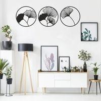 Metal Wall Art, Metal Flower Wall Art, Geometric Flower Sign, Metal Wall Decor, Interior Decoration,Ginkgo Biloba Leaf