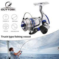 Outtobe Spinning Fishing Reel Metal Fish Reel 5.5:1 Heavy Duty Casting Spinning Reel for Saltwater and Freshwater Fishing